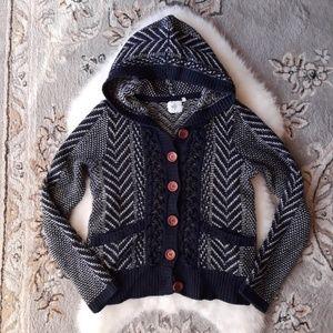 Monogram | ANTHRO Knit Sion Blue Cardigan Sweater